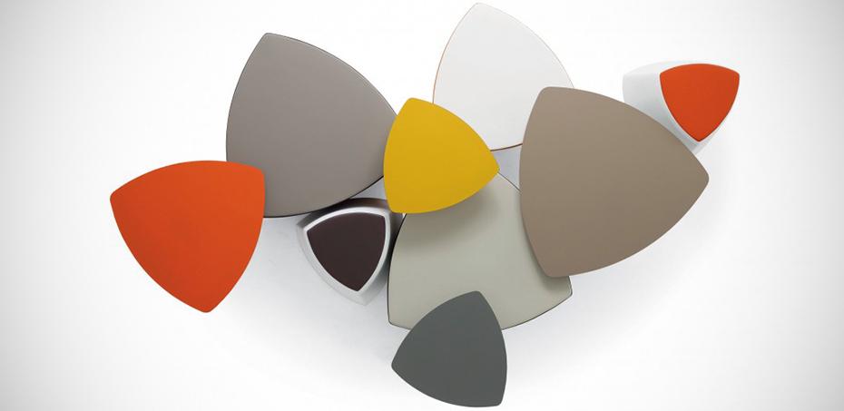 range of round edged triangle pouf kensho design franco. Black Bedroom Furniture Sets. Home Design Ideas