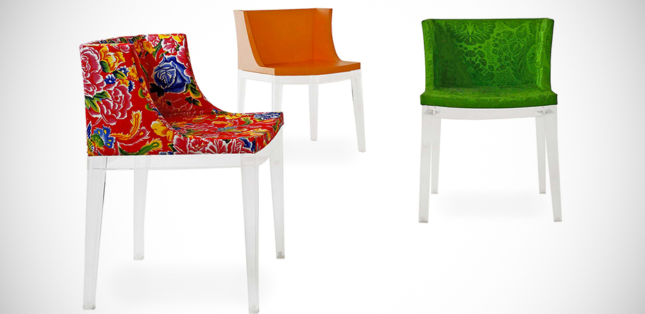 mademoiselle armchair by kartell design philippe starck