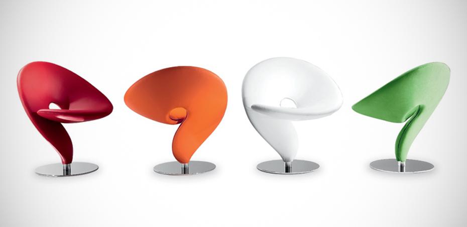 Question mark waiting room chairs by tonon design stefan - Chaises design couleur ...