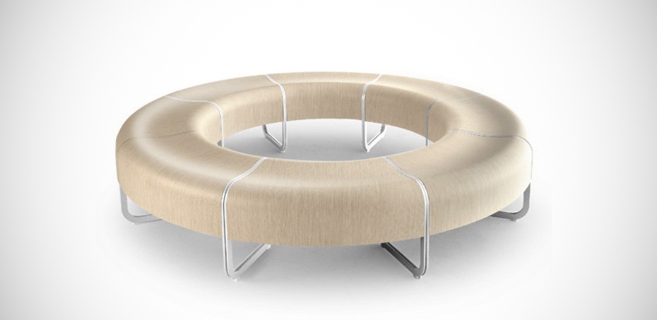 Curved benches za system by la palma design shin tomoko azumi - La chaise longue nantes ...